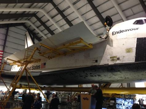Endeavour with payload bay doors open. ©Matt Vasko