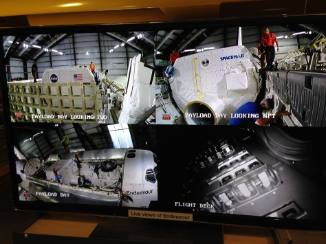 Live feed of the SPACEHAB in its final position inside Endeavour. ©Matt Vasko